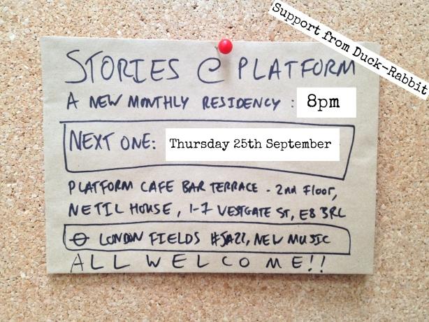 Stories @ Platform September